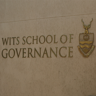 Wits Scoool of Governance signage