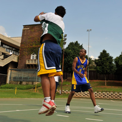 Basketball players at Wits