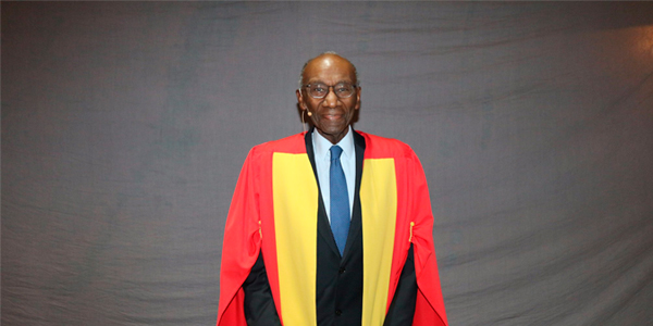 Franklin Thomas at the Wits graduation ceremony in December 2017 where he received an honorary LLD