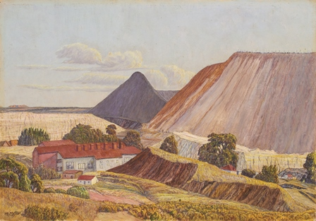Moses Tladi 448x313. No 1 Crown Mines. Undated. Oil on canvas board. 350 x 500mm. Private collection. Image courtesy of Print Matters.jpg (97.5 kB)