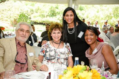 Alumni Relations' Purvi Purohit with guests at Founders' Tea 2017