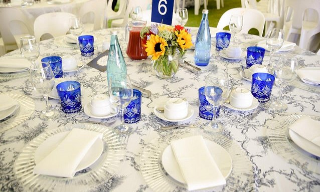 Table setting for Founders' Tea 2017