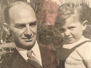Louis Jacobson with his young son David
