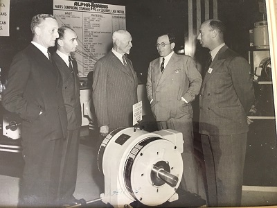 Louis Jacobson, second from left, and General Smuts at FEC