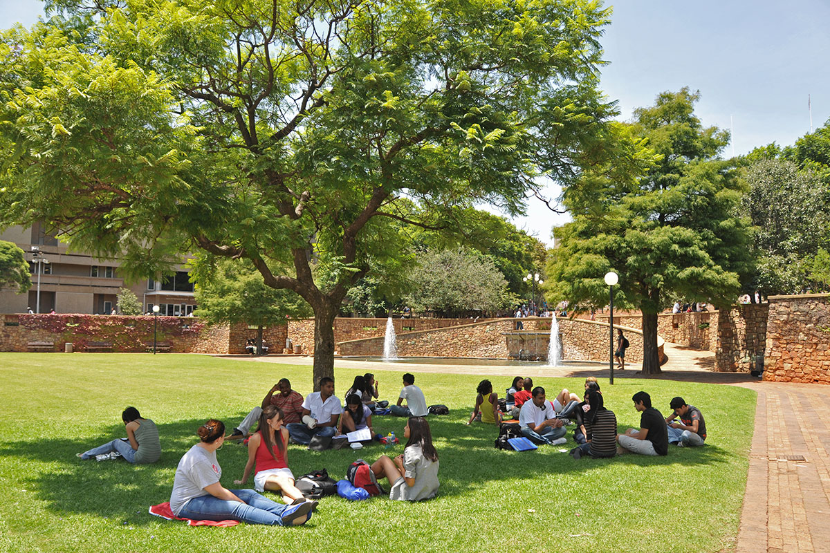 Wits University students on campus