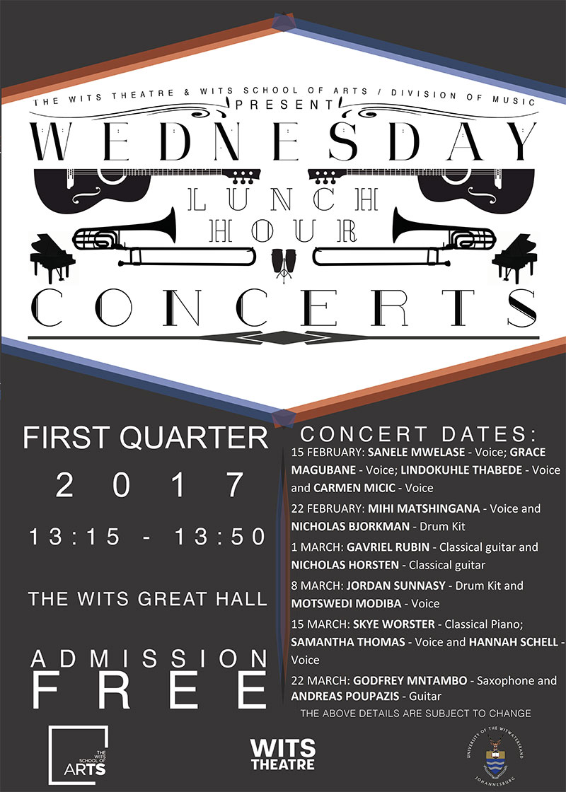 Wits Wednesday Lunch Hour Concerts 2017