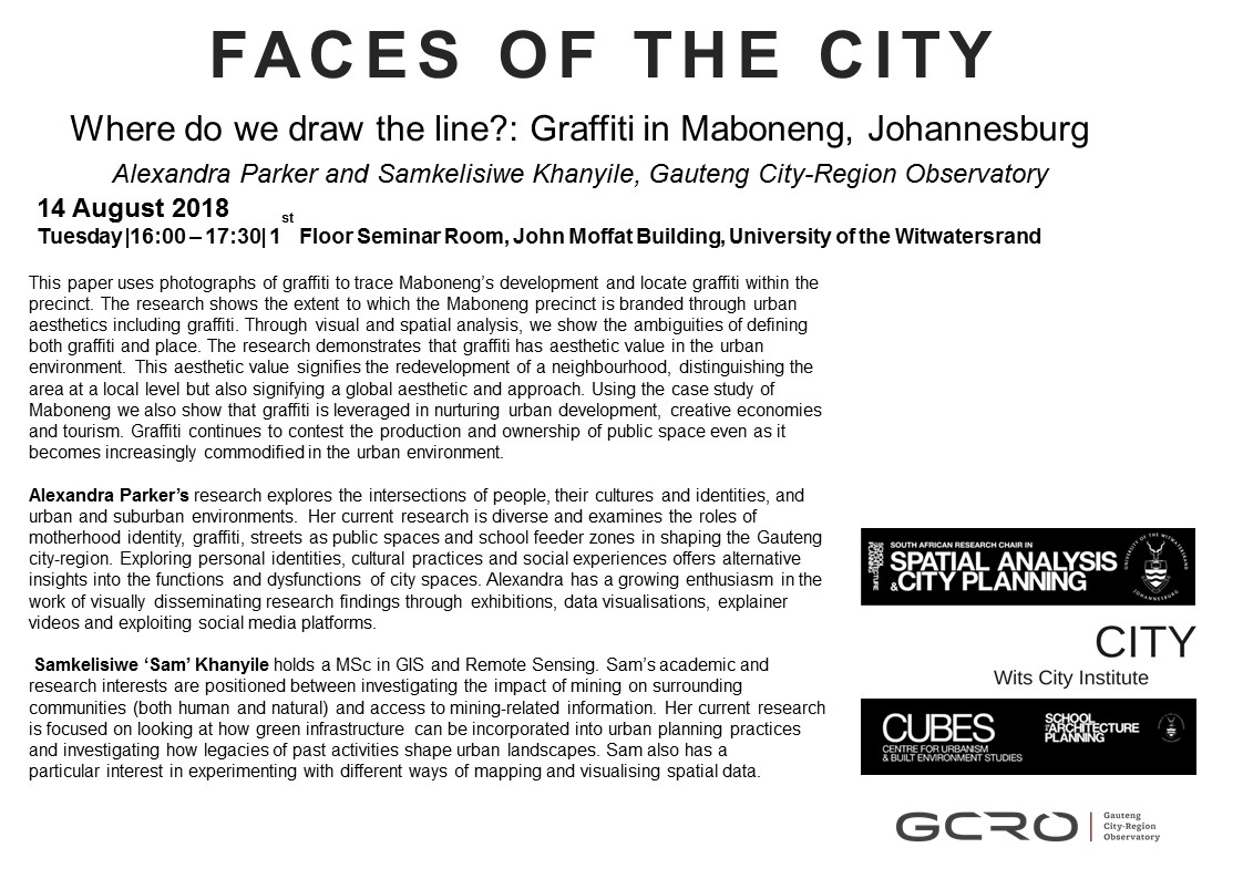 Faces of the City - Wits University