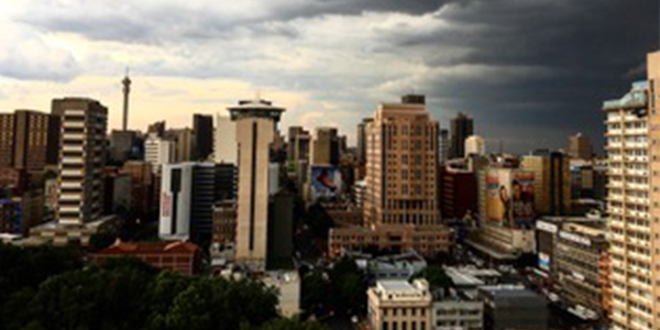 Storm brewing over Johannesburg credit David Francis