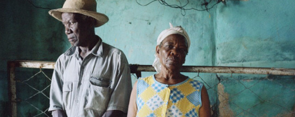 Gideon Mendel Christa and Salomon Raymond Fils, Decade Village, Haiti (2008)