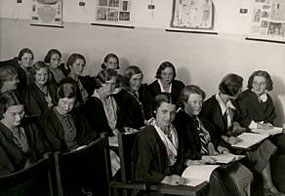 Students at a lecture, 1931