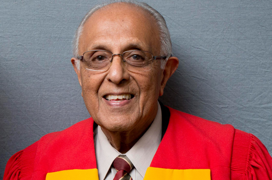 Wits University conferred an honorary doctorate on Ahmed Kathrada in 2012