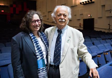 Janet Love and Advocate George Bizos at Faculty of Science graduation ceremony