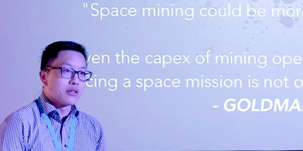 Jonathan Lun, Wits alumnus and winner of Singularity University's Global Impact Challenge.