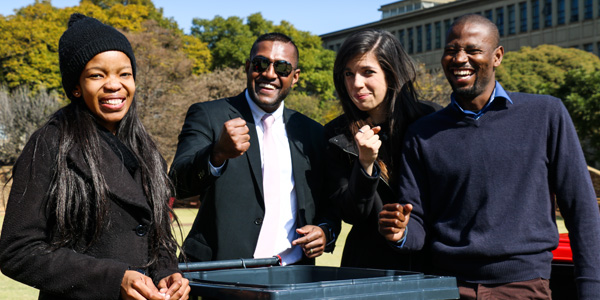 Wits Law Clinic Staff members during Mandela Day