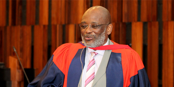 Professor Loyiso Nongxa at his inaugural lecture