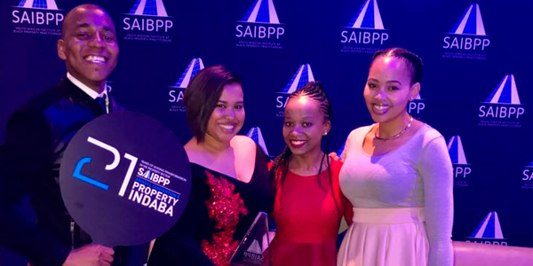 Wits SAIBPP student chapter at SAIBPP receiving an award, Samukelo Nkosi, Waseema Lombard, Kananelo Kota and Matlali Matsoso