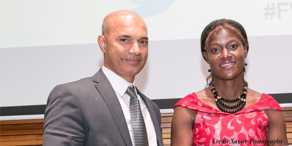 Sandeep Rai, Managing Director, L'Oréal South Africa and Olawumi Sadare, Wits PhD Chemical and Metallurgical Engineering student