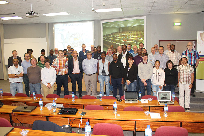 Scientists, students and industry leaders who attended the ATLAS Tile Calorimeter Upgrade week.