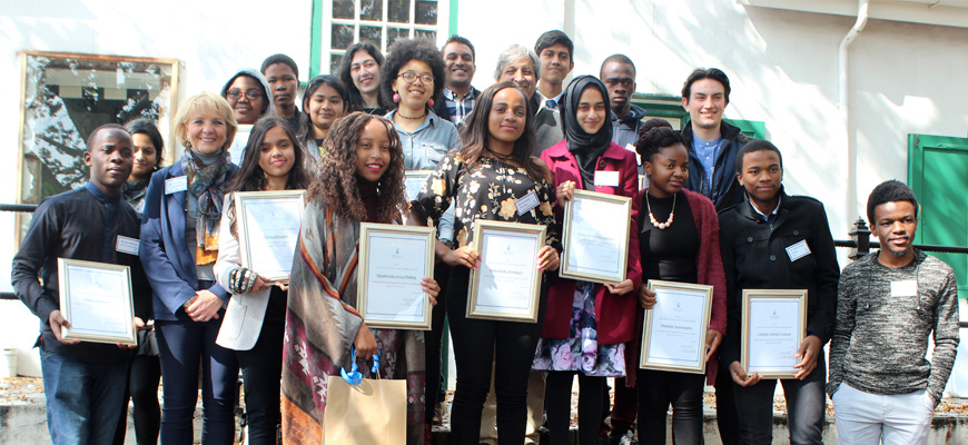 Vice Chancellor's Scholarship recipients 2017