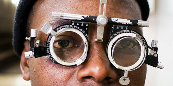 A Wits staff takes an eye test