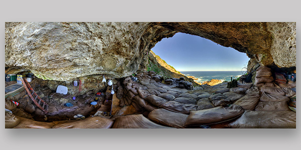 Blombos cave virtual reality rendition
