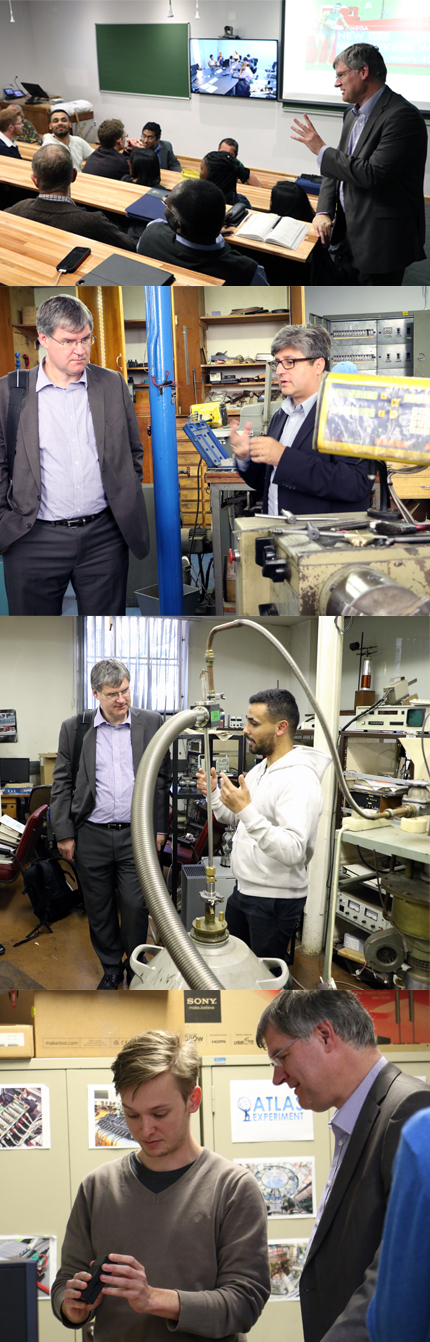ATLAS Collaboration Spokesperson David Charlton visiting the Wits School of Physics.