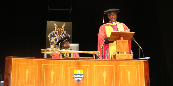 The Archbishop of Cape Town, Thabo Makgoba, speaks at a Wits graduation