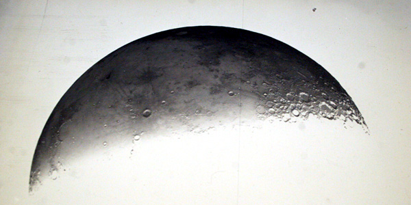 An astronomical glass plate of the Moon.
