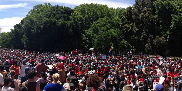 FeesMustFall protesters in Cape Town
