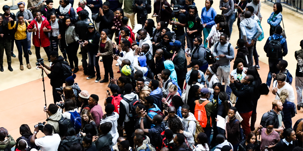 Students protest in Solomon Mahlangu House - Fees Must Fall 2017