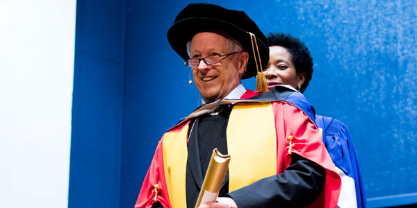 Professor George Ellis receives honorary doctorate from WIts