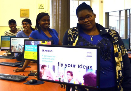Wits' Team Aero Squad - Makhosazana Moyo, Seshni Govender, Thabiso Leballo and Buhle Dlodlo – have reached the top 50 in the global Airbus Fly Your Ideas competition.