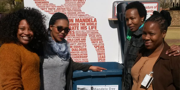 Wits Sport Staff at Mandela Day Food Bank Challenge