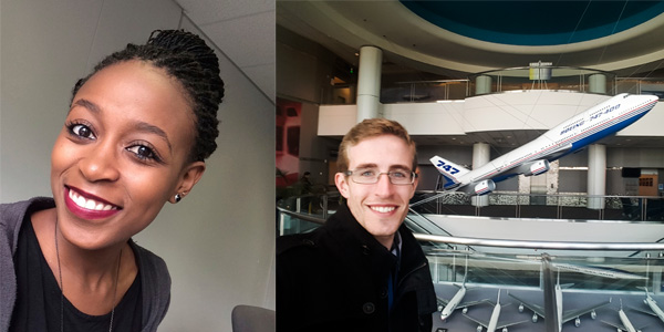 Mbalenhle Sekaatu and Keegan Moore Boeing Interns