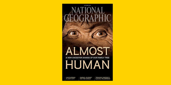 National Geographic book cover for Homo naledi
