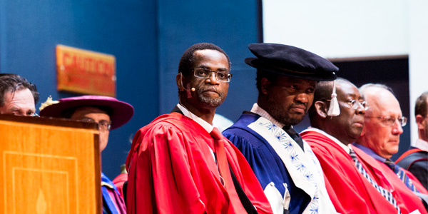 Professor Cuthbert Musingwini at the Faculty of Engineering and the Built Environment graduation ceremony