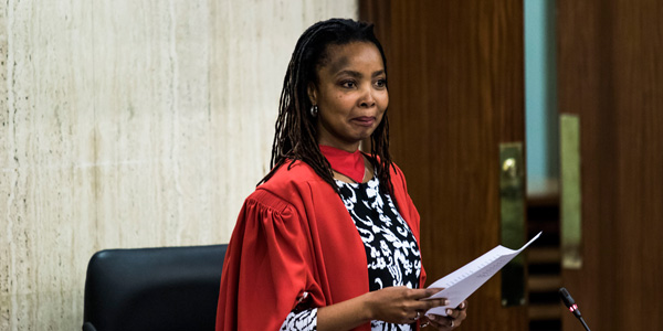 Professor Pumla Gqola delivers her inaugural lecture