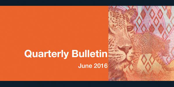 South African Reserve Bank Quarterly Bulletin for June 2016