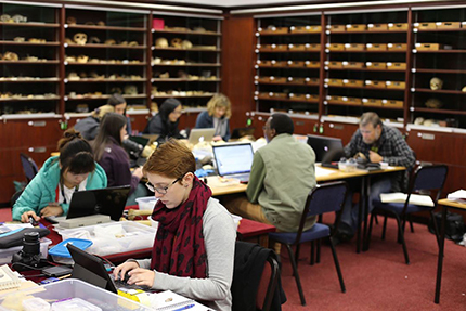 Rising Star Workshop participants in the Phillip V. Tobias Fossil Hominid Laboratory