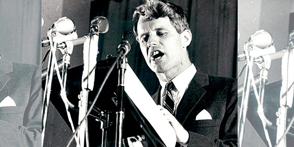Robert Kennedy at Wits University.