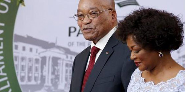 SONA2016_President Jacob Zuma and Speaker Baleka Mbete