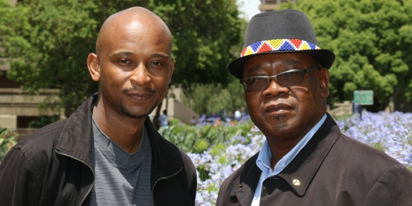 James Khumalo's grandson, Sibusiso, and son, Diliza Khumalo.