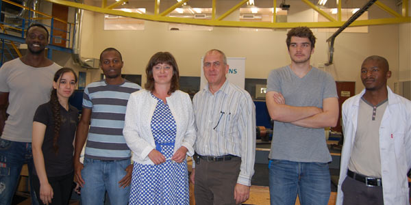 Sabine Dall'Omo, Prof. Willie Cronje and students