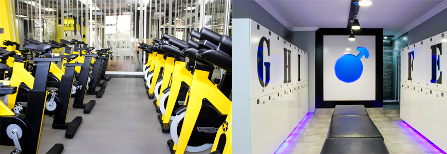 Gym machines and change room