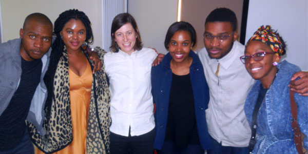 Lindsay  Bling (middle) and Wits Students