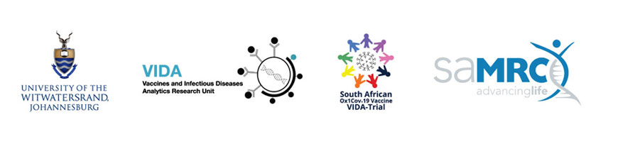 The South African Ox1Cov-19 Vaccine VIDA-Trial partners' logos
