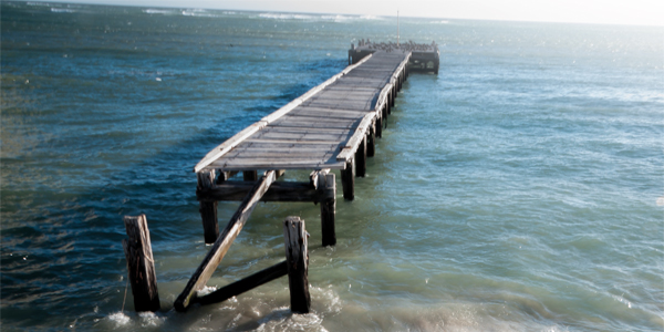 Jetty in the sea