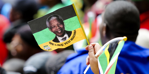 Commemorating Nelson Mandela, South African president and world icon. ©Lauren Mulligan