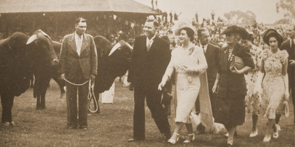 The British Royal Family (with the reigning monarch, Queen Elizabeth second from right) during their visit to the 1946 Rand Show. © Rand Show and City Buzz | www.wits.ac.za/curiosity/