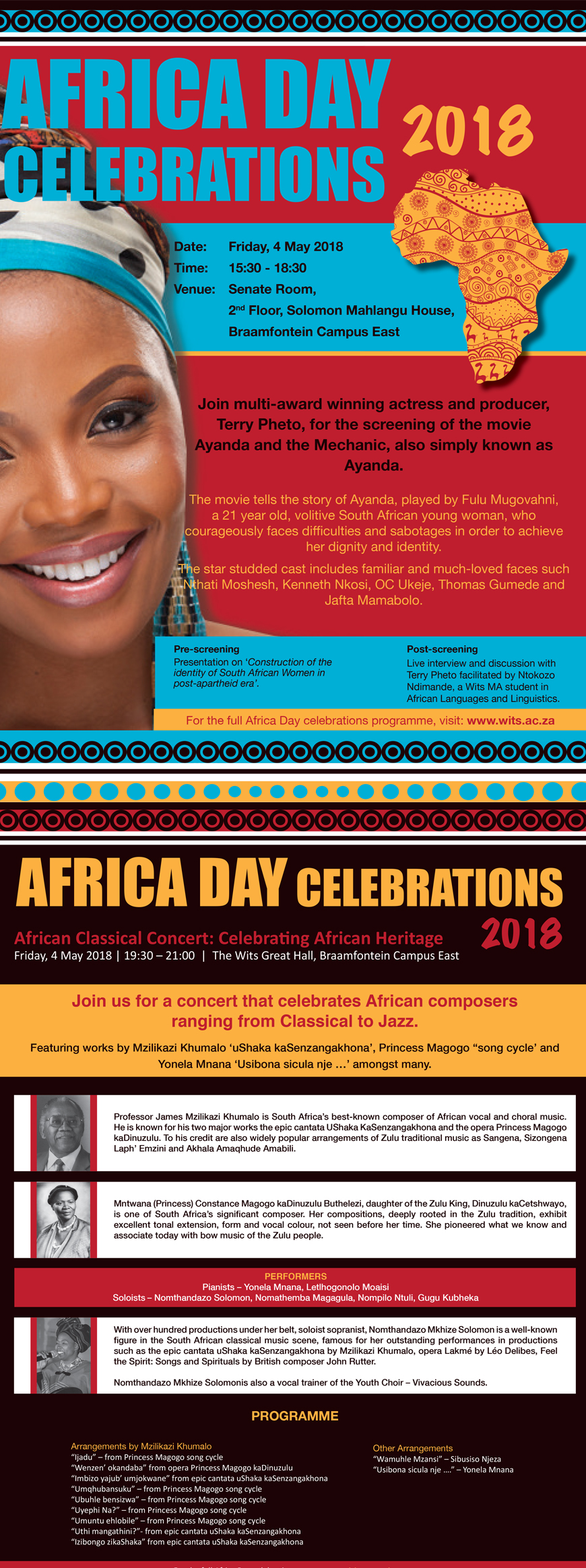 Africa Day 2018 Concerts and Film Screening